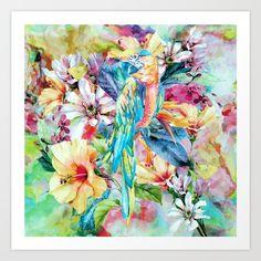 PARROT+Art+Print+by+RIZA+PEKER+-+$17.00
