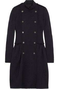 Stylish wool-jersey coat - right up your ally