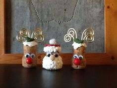 Easy and Fun Christmas Crafts for Preschoolers to Make Easy and Fun Christmas Crafts for Preschoolers to MakeEasy and Fun Christmas Crafts for Preschoolers to MakeWith Christmas just around t Cork Christmas Trees, Christmas Tree Crafts, Holiday Crafts, Wine Cork Ornaments, Wine Cork Crafts, Champagne Cork Crafts, Champagne Corks, Reindeer Ornaments, Santa Crafts