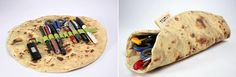 """Vai um """"Ashtanur"""" recheado de lápis e canetas aí? Um tipo de pão sírio de Israel vira estojo para os famintos e criativos! =D"""