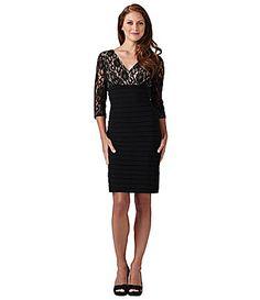 Adrianna Papell LaceBodice Dress #Dillards