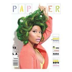 Nicki Minaj luce colorida en la portada de la revista Paper via Polyvore