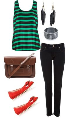 Funky, created by rebeccamerrill2013 on Polyvore...not the shoes though