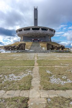 Crazy communism monument in the middle of nowhere in Bulgaria. Original place for communism party, nowdays it is abandoned.