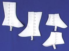 pattern for spats   Spats Short Vinyl Lg Xl Wht