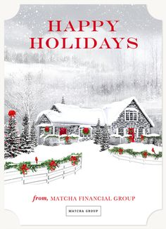 snowy cottage - Simply To Impress Christmas Cards