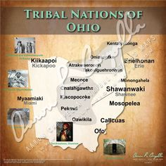 Tribal Nations of Ohio Map Indian Tribes, Native American Tribes, Native American History, American Indians, Ohio Map, Social Studies Worksheets, North America Map, Schools First, Indian Pictures
