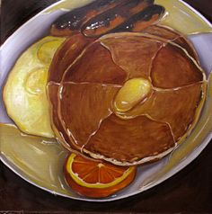 Pancakes and Eggs- Vic Vicini This is another painting by Vic. I really love the…
