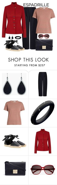 """Saint Laurent Leather Espadrille Look"" by romaboots-1 ❤ liked on Polyvore featuring Eddie Borgo, Brunello Cucinelli, André Ribeiro, Yves Saint Laurent, Donna Karan and Michael Kors"