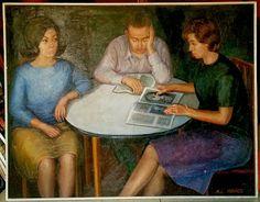 #Reading #MariaLuisaIbanezArt #Art #Painting #Spain