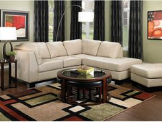 Oakdale 2 Piece Leather Right Facing Sectional Taupe