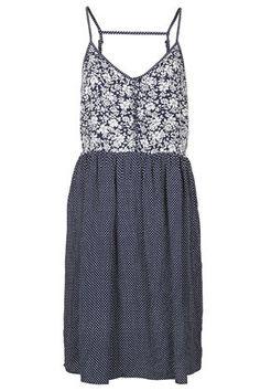 Spotty Floral Print Strappy Dress