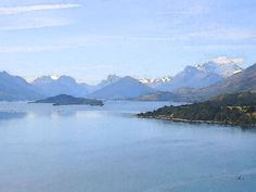 'Bergsee mit grüner Insel' von Dirk h. Wendt bei artflakes.com als Poster oder Kunstdruck $22.17