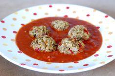 Fotorecept: Šošovicové guľky v paradajkovej omáčke