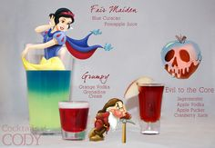Disney Cocktails by Cody: Fair Maiden / Grumpy / Evil to the Core