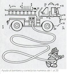 Crafts,Actvities and Worksheets for Preschool,Toddler and Kindergarten.Lots of worksheets and coloring pages. Firefighter Crafts, Dot To Dot Printables, Fire Safety Week, Community Helpers Preschool, Kindergarten Social Studies, Worksheets For Kids, Kindergarten Worksheets, Pre Writing, Programming For Kids