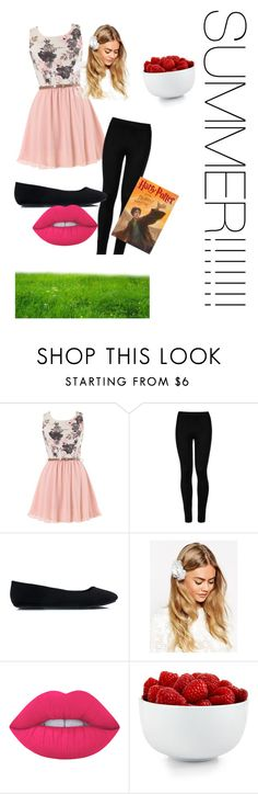 """""""summer"""" by goodgirl8 ❤ liked on Polyvore featuring Wolford, ASOS, Lime Crime and The Cellar"""