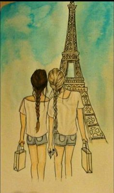 I've always wanted to go to Paris (my favorite place)  and my BFF (favorite person)