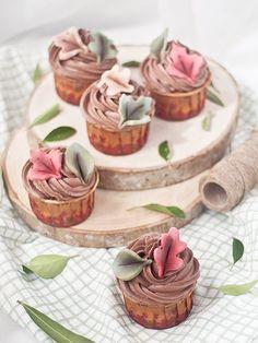 Cupcakes de chocolate y calabaza - Megasilvita