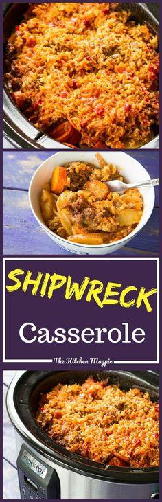 Slow Cooker Shipwreck Casserole! Will use ground turkey or chicken