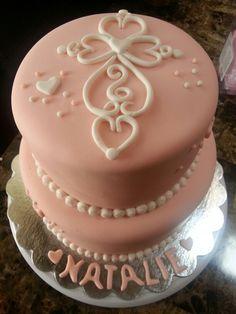 Cross baptisim cake