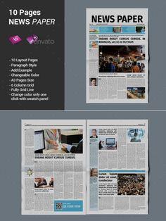 Best Print Newspaper Templates in Adobe InDesign & Photoshop