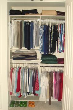 Reach In Closet In Brown Pearwood With Chrome Baskets By Closet Trends |  Closets | Pinterest | Closet Wall, Closet Accessories And Custom Closets