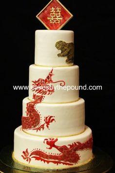 themed wedding cakes Asian