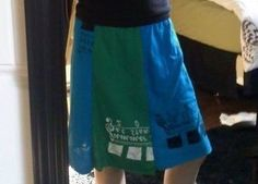 Simple T-Shirt Fabric Skirt