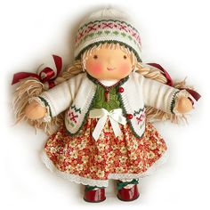 doll - so cute, makes me think of mary engelbreit illustrations