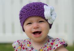 baby hat girls hat baby girl hat little by VioletandSassafras