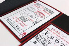 Wedding Invitations Las Vegas Metallic Black by AlexandriaLindo Vegas Wedding Invitations, Handmade Wedding Invitations, Wedding Invitation Design, Wedding Stationery, Invitation Ideas, Invites, Wedding Themes, Wedding Decorations, Wedding Ideas