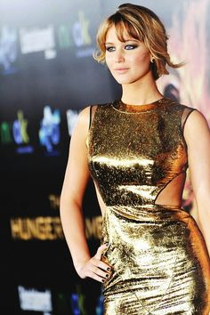 Jennifer Lawrence at the premiere of 'The Hunger Games' in Los Angeles, 2012