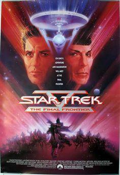 Star Trek V: The Final Frontier: William Shatner, Leonard Nimoy, DeForest Kelley, James Doohan Star Trek V, Film, Spock, Leonard Nimoy, Sci Fi Movies, Star Wars, Film Posters, Movie Tv, Stars