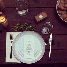 mahogany table wedding