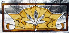Luminous Monarch Beveled and Stained Glass Window