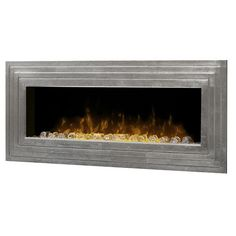 Enjoy the warmth and ambience of the Dimplex Ashmead Wall Mounted  Electric Fireplace easily installing in your home.