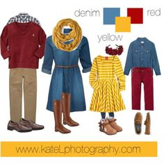 Red/Yellow/Denim by katelphoto on Polyvore featuring Kate Spade, Tory Burch, Hush Puppies, J.Crew, French Connection, Gap, UGG Australia and Gucci