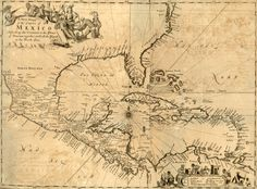 A New Map of the Empire of Mexico, Describing the Continent to the Isthmus of Panama together with all the Islands in the North Sea, 1699.