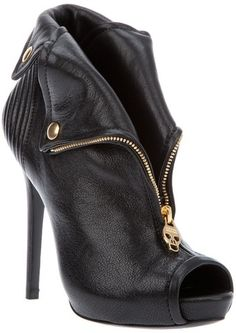 ALEXANDER MCQUEEN Fold Back Ankle Boot