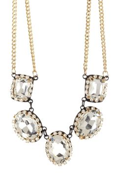 Luxe Crystal Gems Necklace