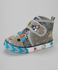 Look what I found on #zulily! Gray Puppy Hi-Top Sneaker by Crown Kicks #zulilyfinds