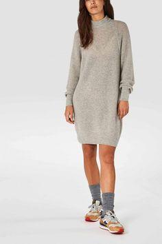 lorraine knitted dress grey melee by Kings Of Indigo Wool Dress, Knit Dress, Winter Dresses, Winter Outfits, Stocking Tights, Winter Wardrobe, Gray Dress, Indigo, Knitwear