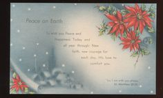 Bible Verse Peace on Earth Vintage Christmas Postcard HHH275 | eBay