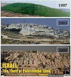 La ocupación que destruye el país que invade.. Palestina!