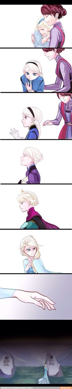 "Elsa and her mother (Queen Idun of Arendelle) from ""Frozen"" - Art by shizu"