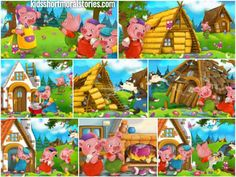 The Three Little Pigs Story With Moral: hard work and dedication will bring success, while carelessnes brings bad consequences. Moral Stories For Students, Inspirational Stories For Students, Short Moral Stories, Short Stories For Kids, Picture Story Writing, Picture Story For Kids, Story Sequencing Pictures, Three Little Pigs Story, All About Me Preschool