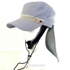 Womens Roxy Castro Style Hat Cap with Neck Flap Cover Hiking Fishing Camping NWT #ROXY #CadetMilitary #Summer