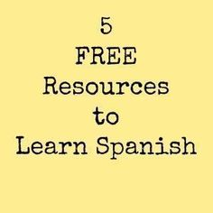 5 Free Resources to Learn Spanish for Kids and Adults #learnspanishforadultsfree #learnspanishforkids #spanishlanguagetips