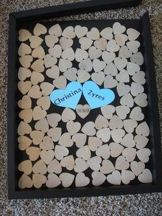 Unique Wedding Guestbook and Heart Guestbook (Drop Top Guestbook) - Any Color - 14x18 - Including Shadow Box